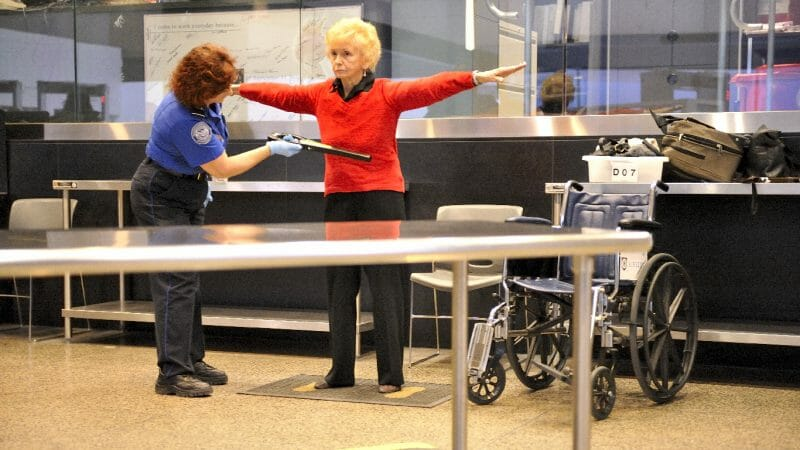 Flying after pelvic mesh removal surgery - private TSA security check